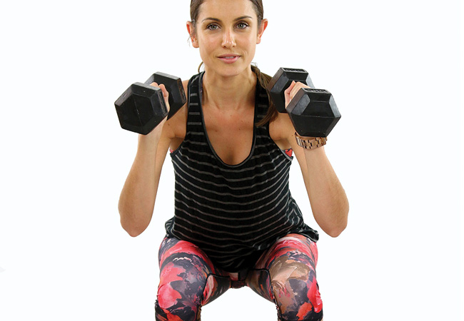 Dumbbell-thrusters