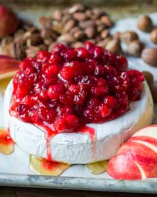 Baked Brie & Cranberry Relish