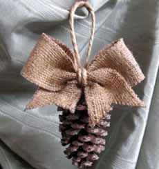 Pine Cone Christmas Tree Ornament