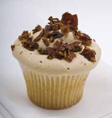 Pancakes, Maple, Bacon Cupcake