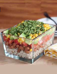 Barley Bean Layered Salad Recipe
