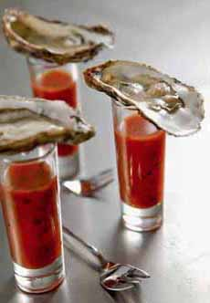 Bloody Mary Oyster Shooters