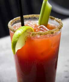 Celery Salt Rim Bloody Mary