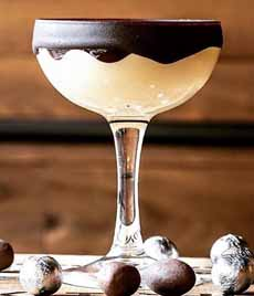 Chocolate Shell Glass Rim