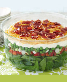 Spinach & Bacon Layered Salad