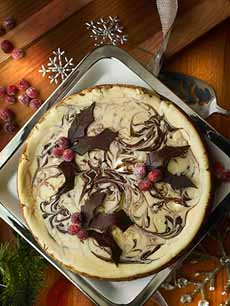 Spiced Eggnog Cheesecake
