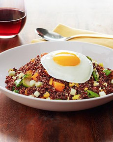 Red Quinoa Fried Rice