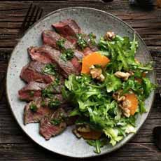 Steak Salad With Orange Segments