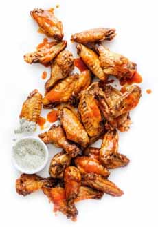 Wings With Ranch Dressing