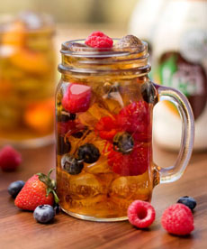 Iced Tea With Fruit