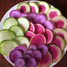 Colored Radishes