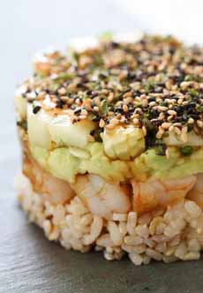 Shrimp & Avocado Stack