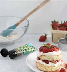 Strawberry Basil Shortcake