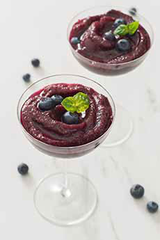 Blueberry Basil Frose