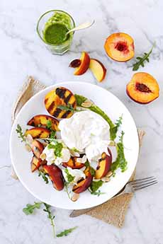 Grilled Peaches With Burrata