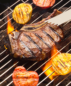Steak On Grill