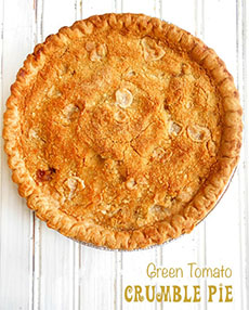 Green Tomato Crumble Pie