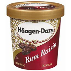 Haagen-Dazs Rum Raisin Pint