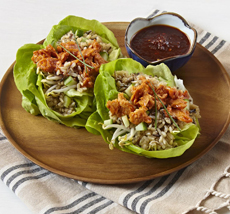 Lettuce Cups With Salmon