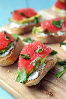Red Grapefruit Crostini
