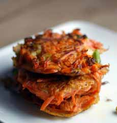 Carrot Scallion Latkes